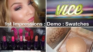 1st Impression : Urban Decay Holiday 2014, Vice 3 Palette, Full Frontal Lipstick Stash, Aura Thumbnail