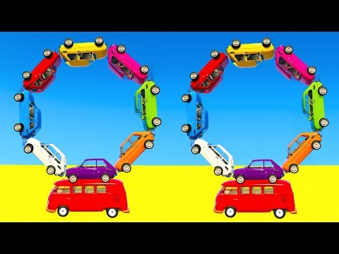 Thumbnail: LEARN COLOR CARS BUS with Superheroes Cartoon for kids and babies