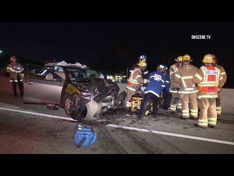Tustin: Lyft Passenger Seriously Injured After Wrong-Way Crash