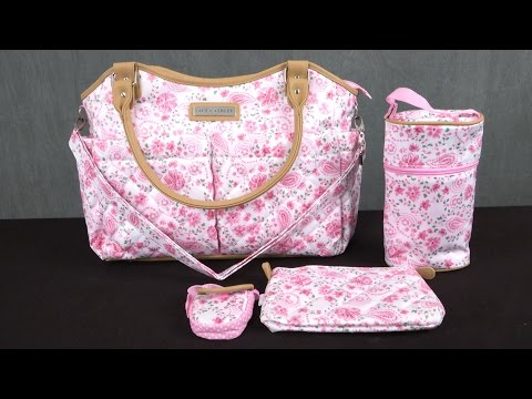 Laura Ashley 6 Piece Tote Diaper Bag from Cudlie Accessories LLC