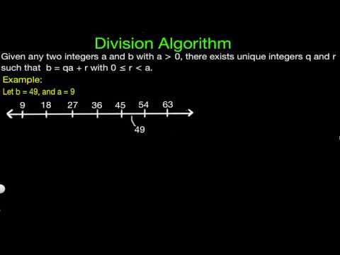 Division Algorithm Proof