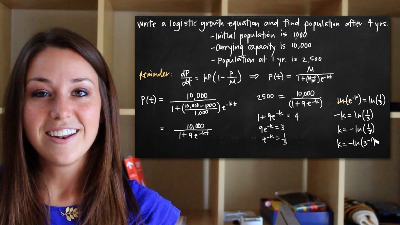 the equations related to models of population