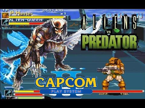 Alien Vs Predator Arcade Lev8 Predator Hunter no death playthrough