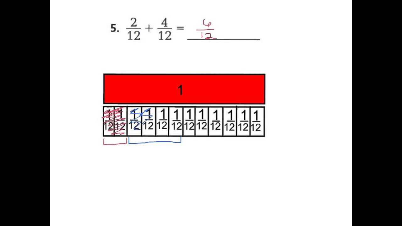 Lesson 73 add fractions using models youtube lesson 73 add fractions using models ccuart Gallery