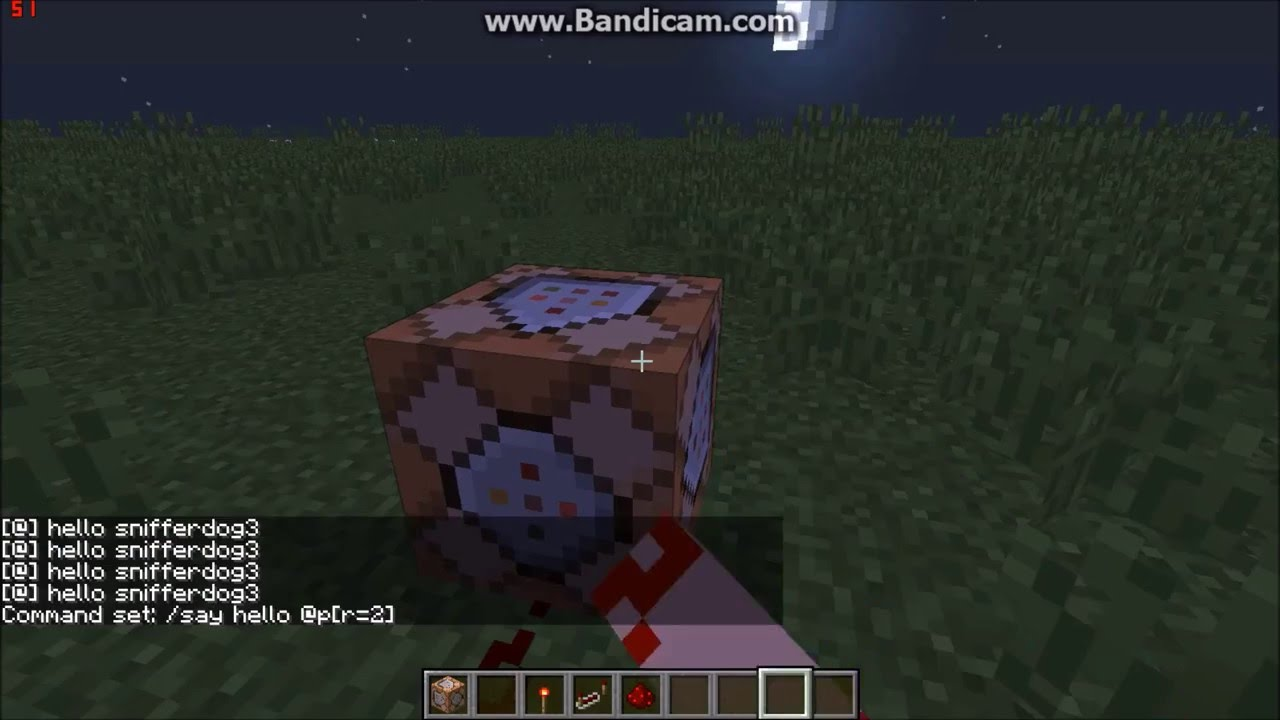 how to make a command block say a players name in a sentence! 1 9 2