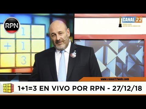 Uno mas Uno tres en VIVO 27/12/2018 1+1=3 #CúneoEnVIVO