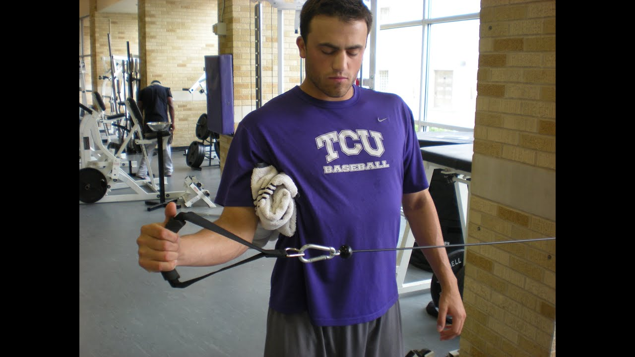 external rotations for baseball shoulder exercises