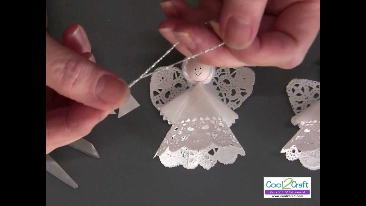 how to make a paper doily angel using aleenes original tacky glue long version youtube