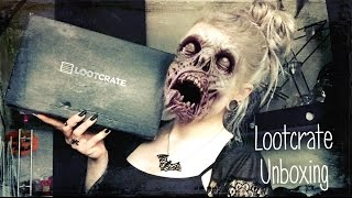 Loot Crate Subscription Box Unboxing - October 2016 (Horror)