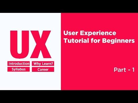 UX Design Tutorial for Beginners 2018 Part 1 | UX Design Course | User Experience Design