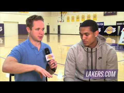 Jordan Clarkson Interview at Lakers - All-Rookie First Team