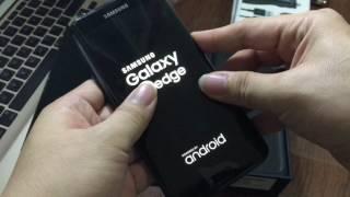 Unboxing Black Pearl Samsung Galaxy S7 Edge 128 GB