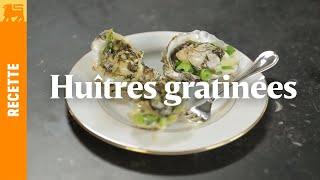 Huîtres gratinées sauce champagne