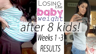 Postpartum Weight Loss Week 1, 2 and 3 RESULTS