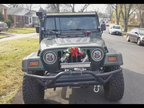 Car Christmas Decoration Dollar Store Challenge 5 Total Jeep Tj Youtube