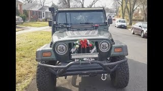 Car Christmas Decoration Dollar Store Challenge $5 TOTAL! (Jeep TJ)
