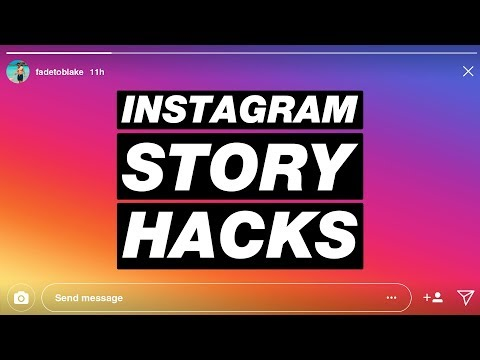 INSTAGRAM STORY HACKS (2018) // Secret GIFs, Highlight Covers From Camera Roll, And More!