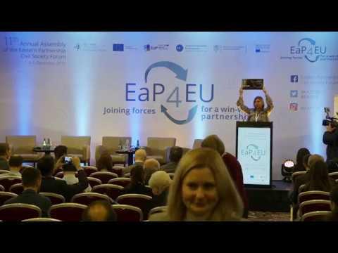 Pavel Sheremet Journalist Award And Civil Society Activist Award At EaP CSF Annual Assembly #AA2019