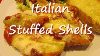 Cheesy Italian Stuffed Pasta Shells Recipe By Tess's Kitchen