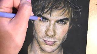 Ian Somerhalder (Vampire Diaries/Damon Salvatore) - Portrait Drawing
