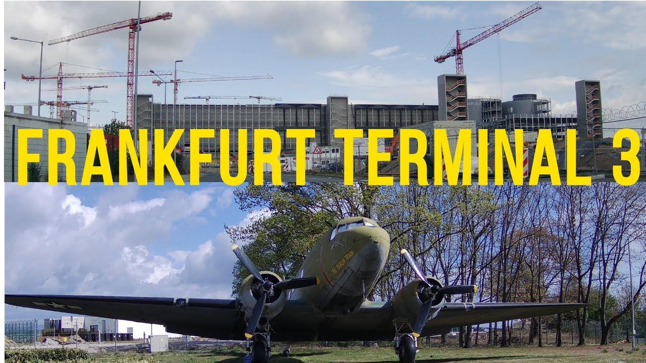 Download Frankfurt Airport Terminal 3 * GAT * Berlin Airlift Monument (Luftbrückendenkmal) 4K