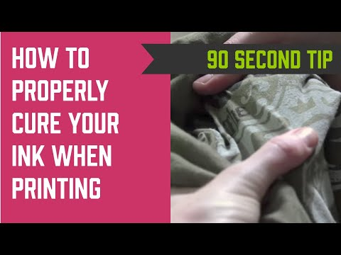 How to Properly Cure Your Screen Printing Ink
