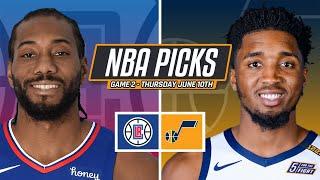 NBA Picks - Los Angeles Clippers vs Utah Jazz Game 2 Prediction -  June 10, 2021 NBA Playoffs