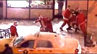 SantaCon Brawl in New York City