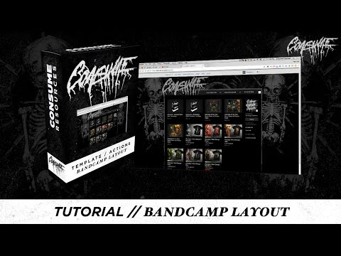 Tutorial // Custom Bandcamp Page w/ Free Photoshop Actions and Templates