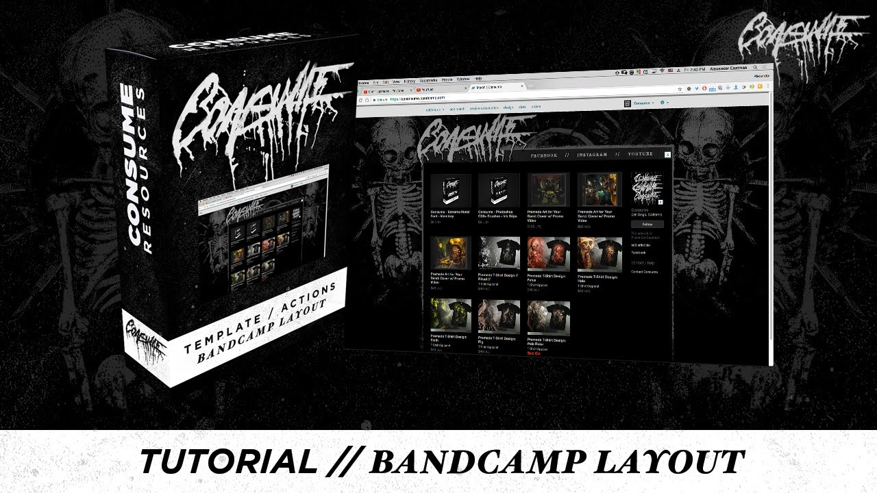 tutorial custom bandcamp page w free photoshop actions and