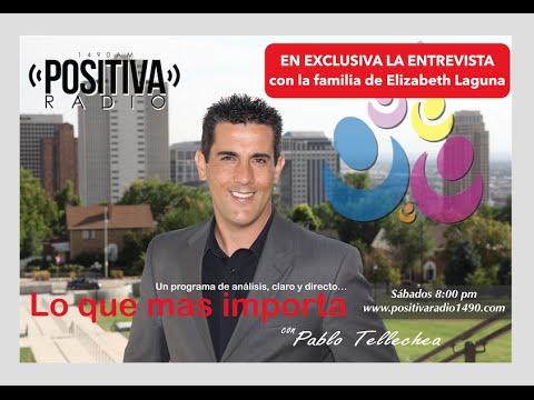 Entrevista con la familia de Elizabeth Laguna Salgado en Positiva Radio 1490 AM