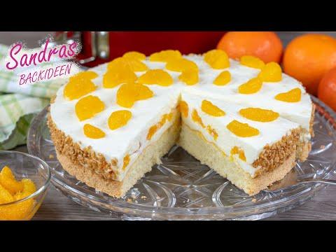 Mandarinen Quark Torte Mit Biskuitboden In 10 Min Bereit Für Den Ofen / Rezept Für 26 Cm Springform