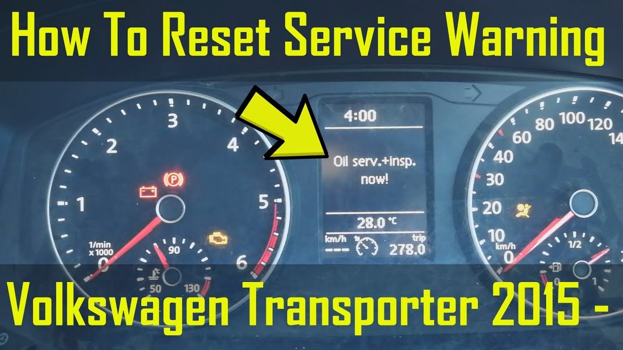 VW Transporter Oil Service & Inspection Warnings Reset - How To DIY