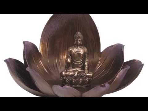 Artistic Buddha Statue On Lotus