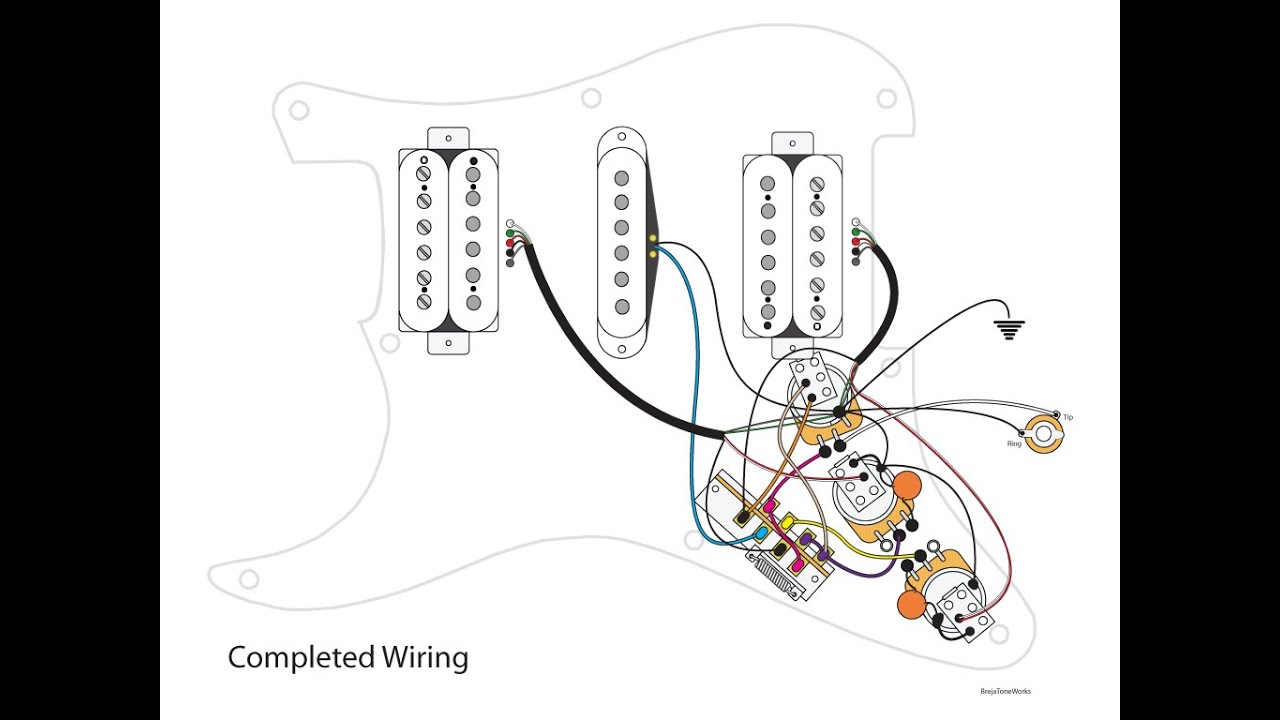 Super Hsh Wiring Scheme Youtube Electric Guitar Diagram Harness