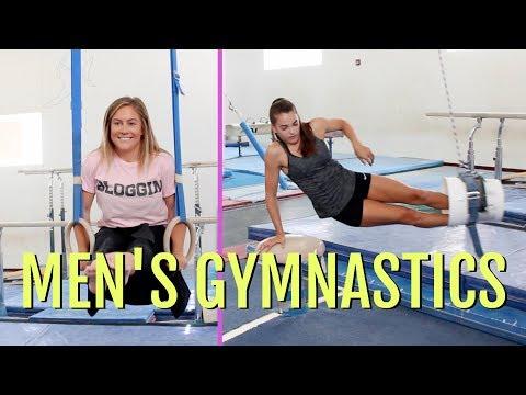 Girls Try Men's Gymnastics ft. Shawn Johnson!