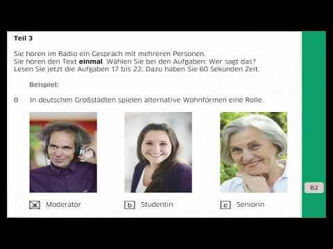 смотрите сегодня Goethe B2 Neu Hörverstehen Teil 3 Lösungen Im Blog