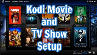 Kodi Movie and TV Show Setup(This is a quick video showing you how to setup the Movies and TV Shows library inside of Kodi., 2015-05-11T22:13:39.000Z)