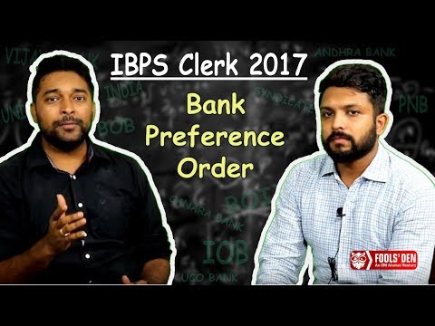 How to Fill Bank Preference in IBPS Clerk 2017
