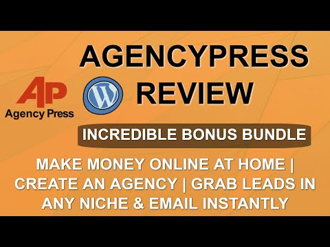 AgencyPress Review | Lead Gen with WordPress | Make Money with Services thumbnail