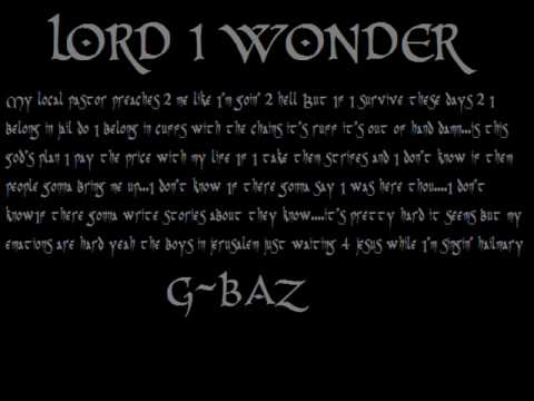 Lord I wonder - G-BAZ