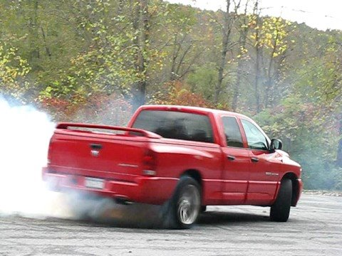 Dodge Ram Srt 10 Viper Burnout Out Smoke Show Youtube