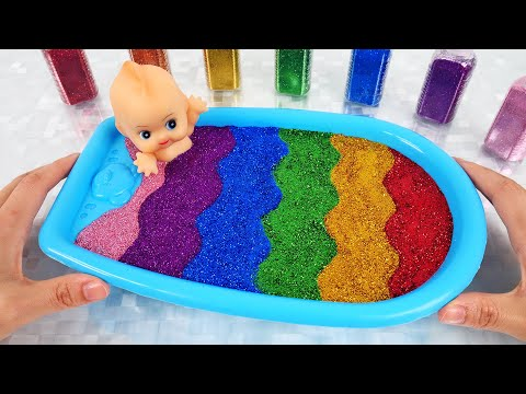Satisfying Video l Mixing All Store Bought Slime Smoothie ASMR #4 Rainbow ToyTocToc