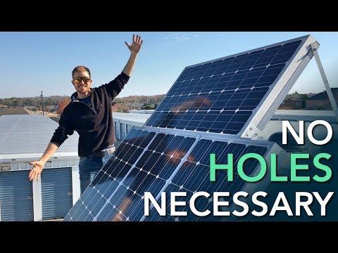 RV Solar Panels | VHB Tape Mounting + Wiring + Installation (Part 7)