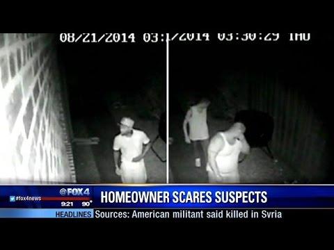 Homeowner scares off intruders