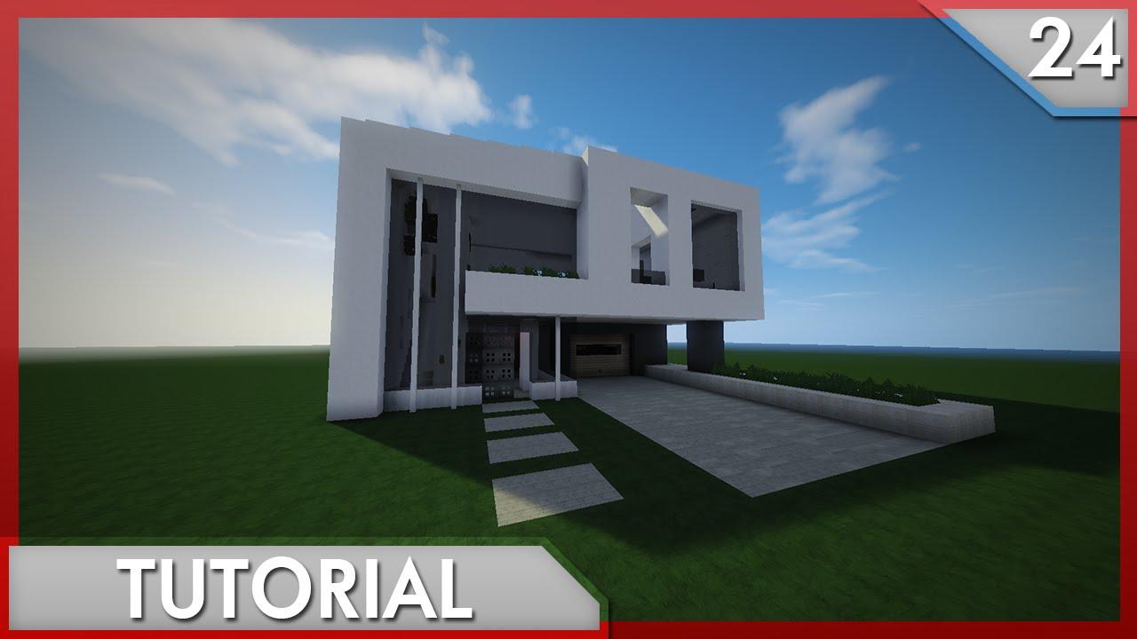 Minecraft como hacer una casa moderna 24 youtube for Eumaster casa moderna 8x8