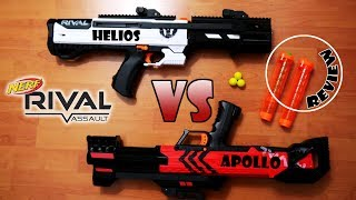 Nerf RIVAL HELIOS PUMP ACTION SHOTGUN KIT vs APOLLO + Rival Magazin Review #rivalweeks