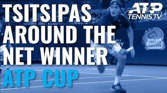 Incredible Stefanos Tsitsipas Winner Round the Netpost! | ATP Cup 2020