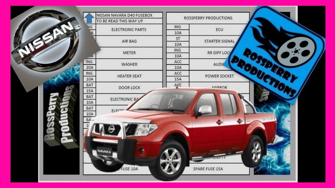 Nissan Navara D40 Fuse Box and OBD2 Diagnostics Port Locations including Diagram (Pathfinder