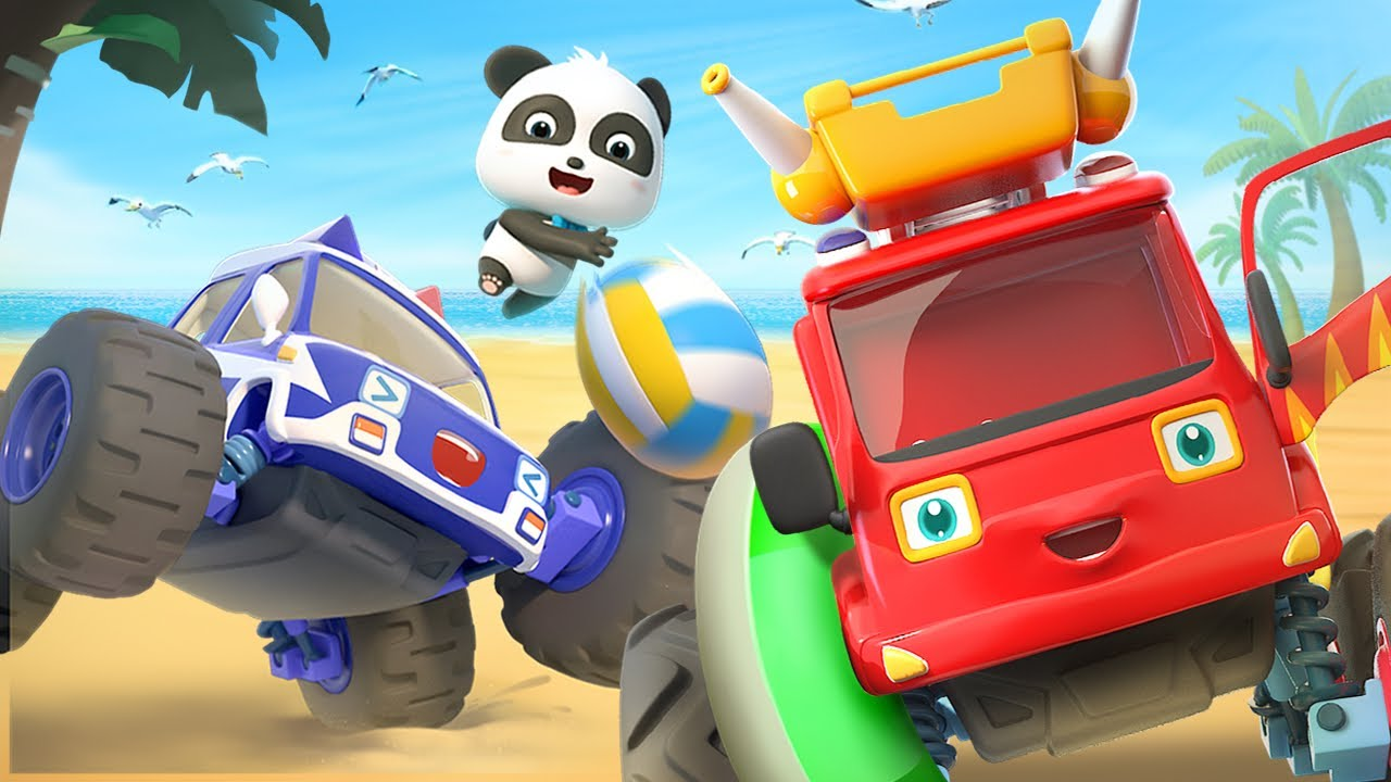 Monster Car for Kids   Monster Fire Truck   Police Car, Ambulance Song   Cars and Vehicles   BabyBus